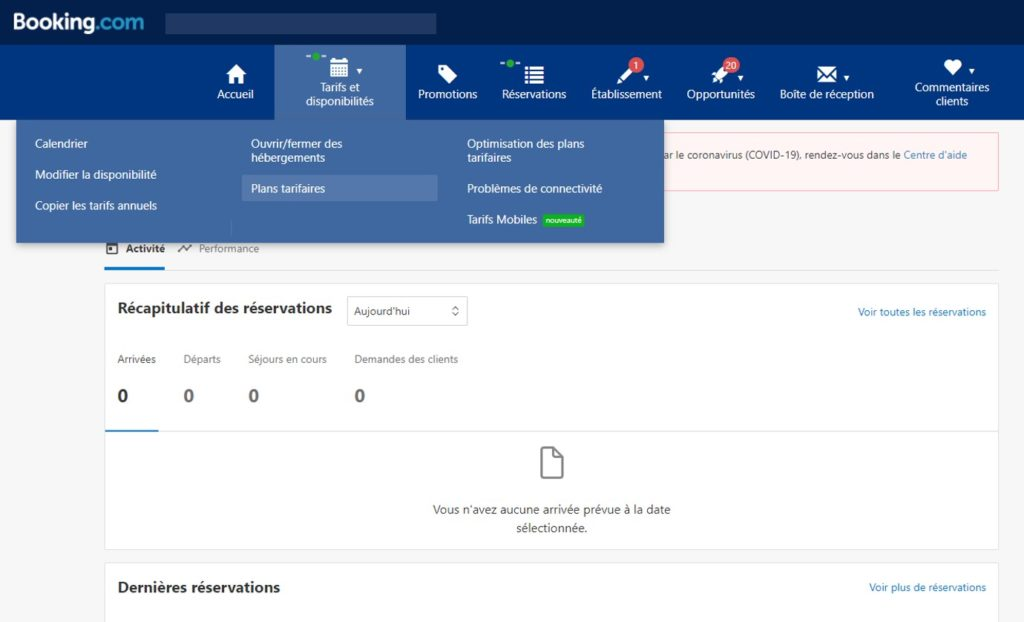 Votre établissement sur Booking